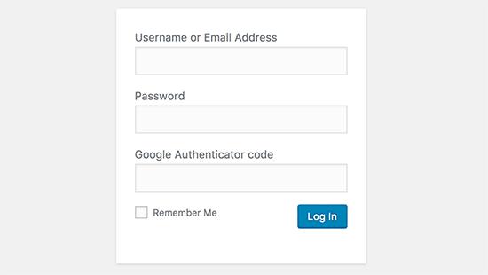 Enable Two-Step Verification to WordPress Login Screen
